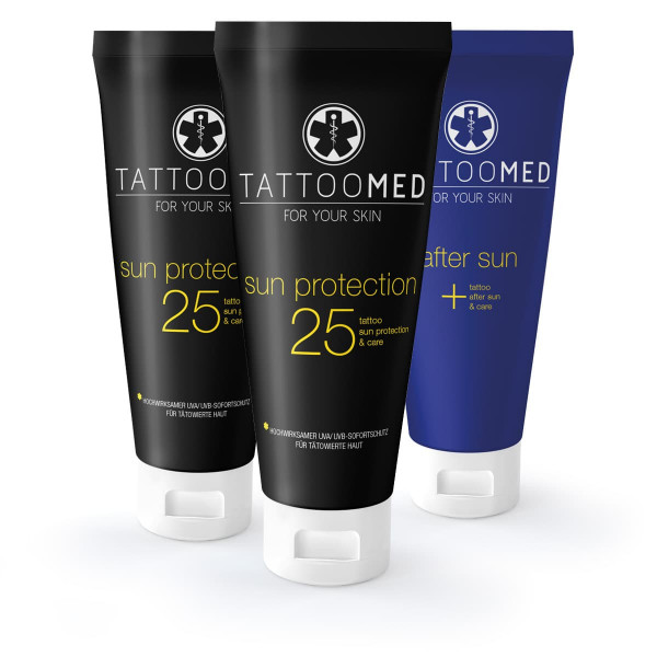 TattooMed  2x sun protection LSF 25 100ml 1x after sun 100ml