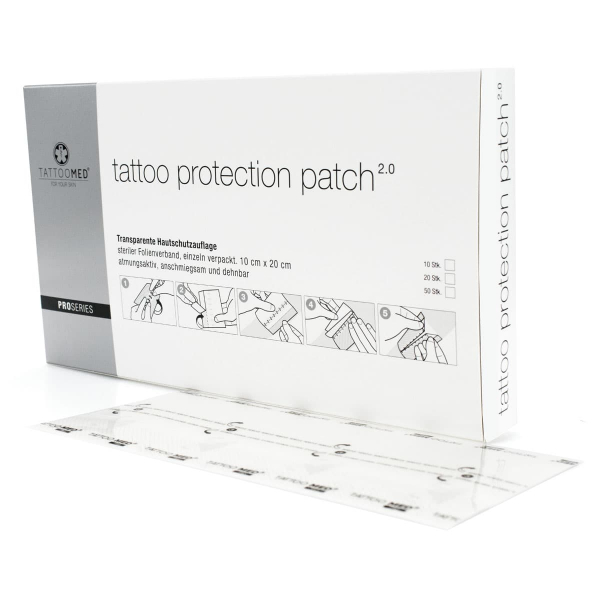 Tattoo protection film 2.0 patch (10cm x 20cm)- 50st.