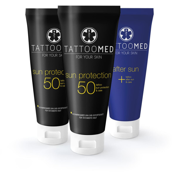 TattooMed 2x sun protection LSF 50 100ml 1x after sun 100ml